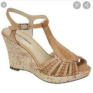 Raylen by Franco Fortini wedge cork sandals
